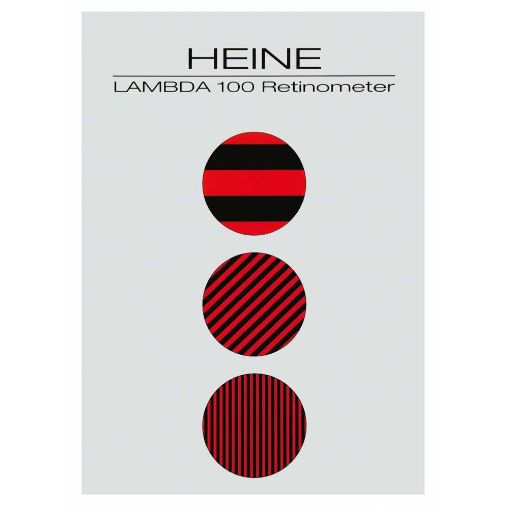 Tarjeta de paciente HEINE LAMBDA 100 Retinómetro