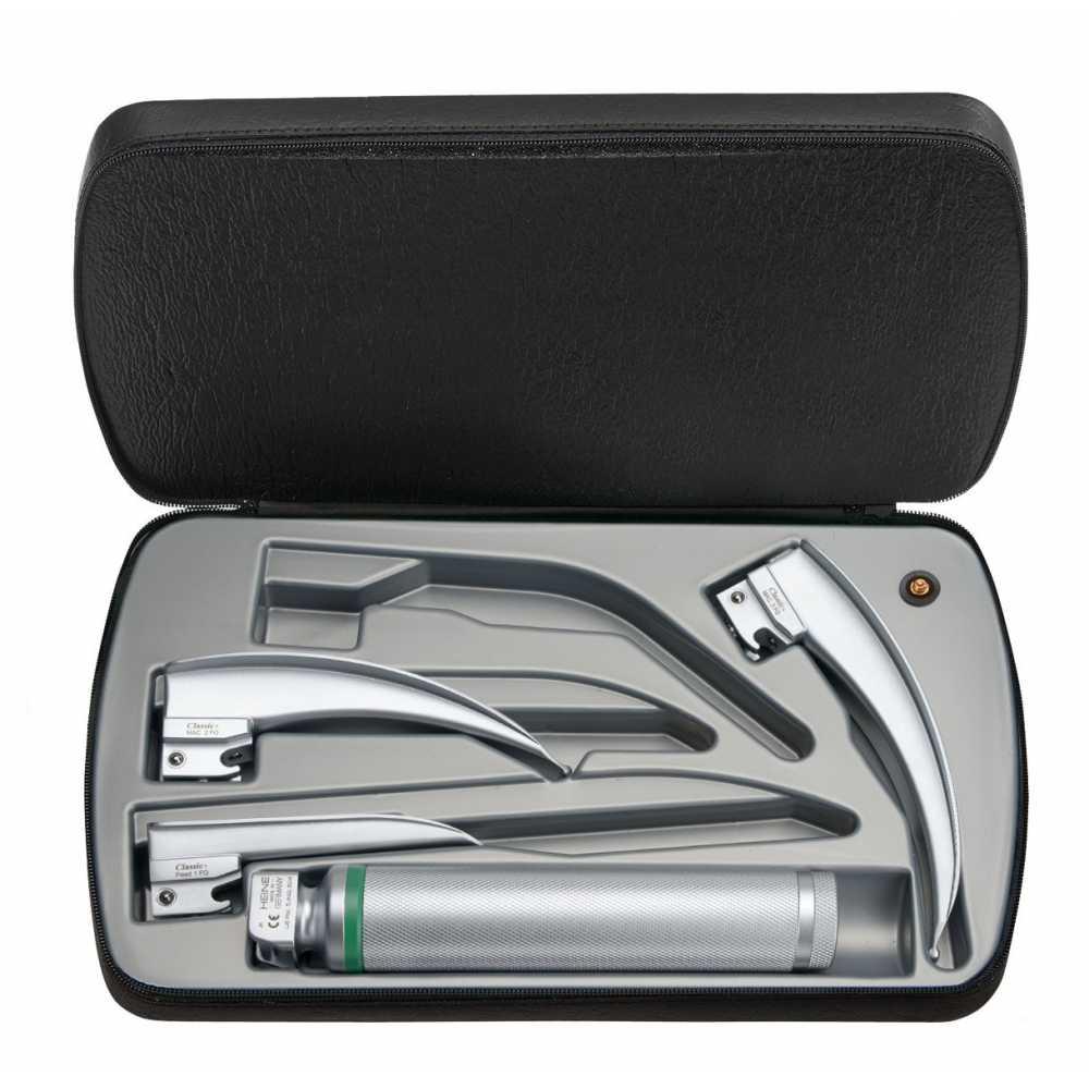 Ensemble de laryngoscopes HEINE Classic + à fibre optique (FO) 2,5 V