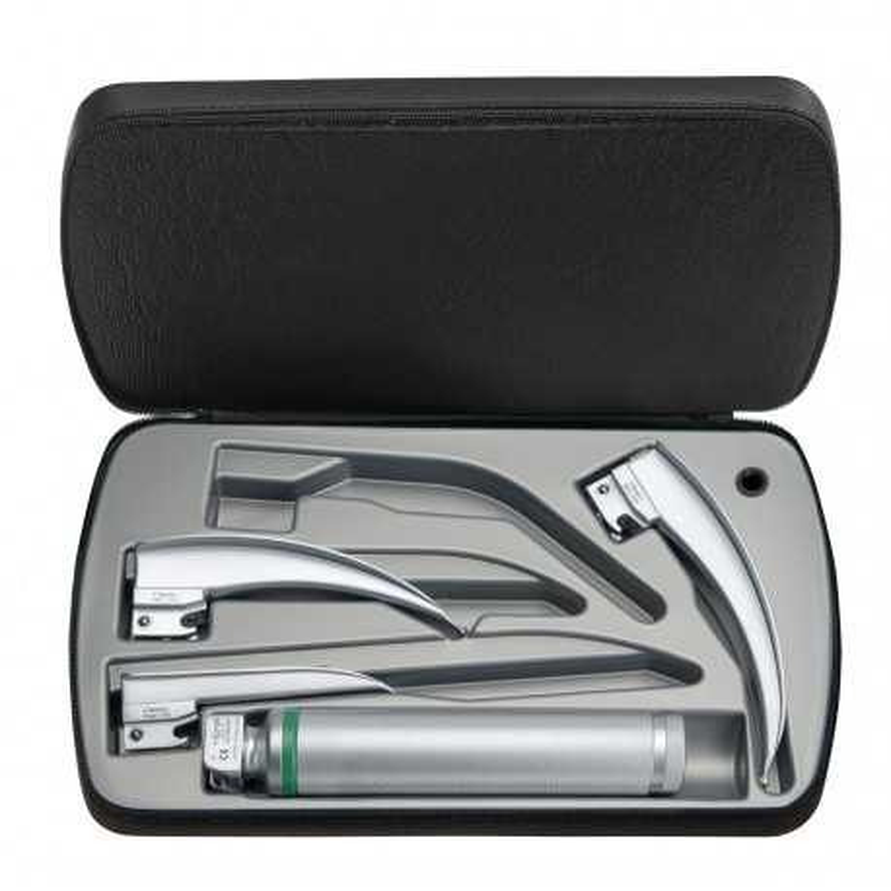 HEINE Classic+ Fiber Optic (F.O.) Laryngoscope Set 2.5 V