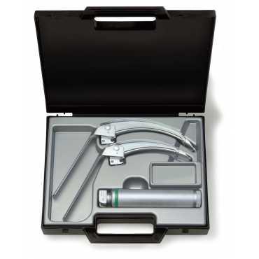 Conjunto de laringoscópios HEINE FlexTip + FO com Blade Mac 3 + 4