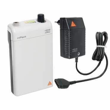 HEINE mPack con batteria ricaricabile e trasformatore