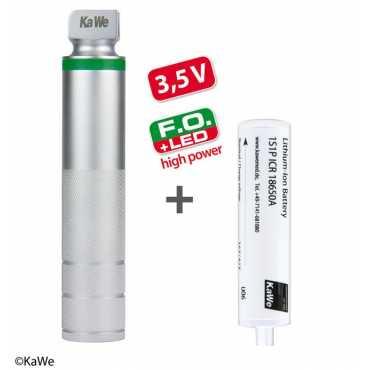 KaWe FO impugnatura di ricarica LED ad alta potenza per laringoscopio