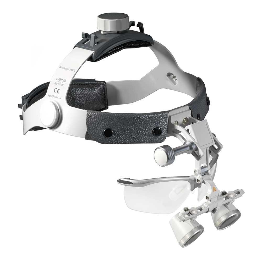 Lupas HEINE HR 2,5x en cinta para la cabeza con S-GUARD