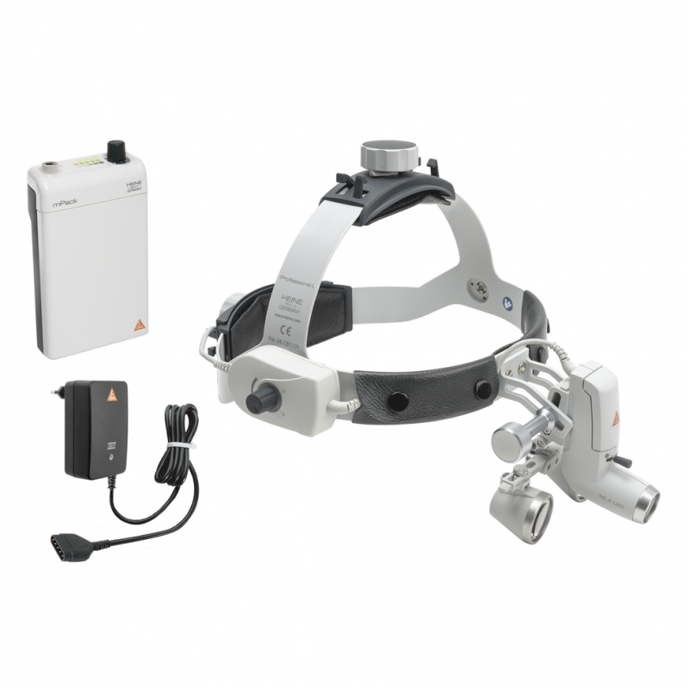 Kit HEINE ML 4 LED 2c com lupas HR 2,5x