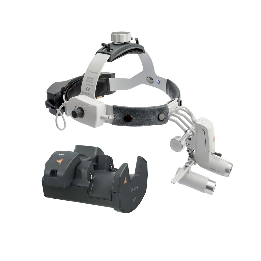 Lâmpada frontal HEINE ML4 LED Kit 10c com lupas HRP 6x