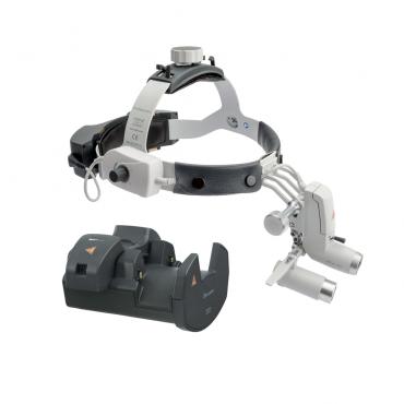 Lâmpada frontal HEINE ML4 LED Kit 8c com lupas HRP 3,5x