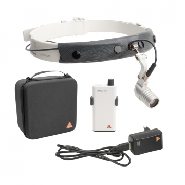 HEINE MicroLight 2 LED en en cinta craneal con mPack mini