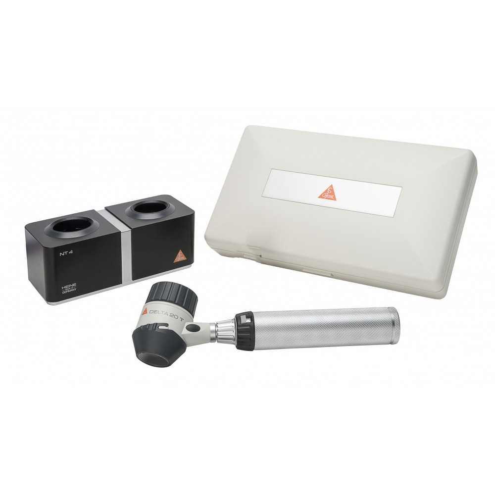 Set de dermatoscopes HEINE DELTA 20 T avec chargeur de table NT 4