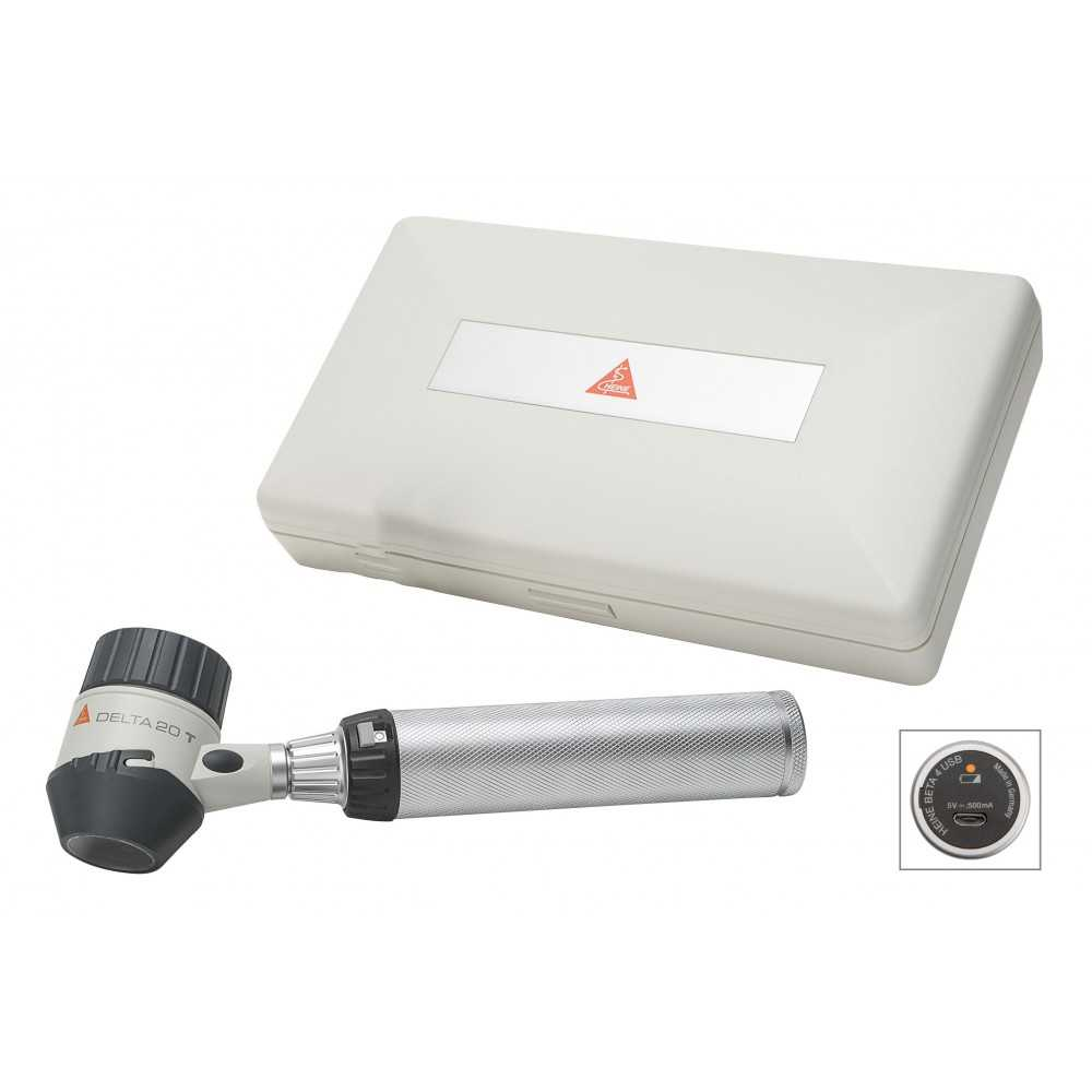 Set de dermatoscopes HEINE DELTA 20 T avec BETA 4 USB +