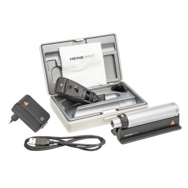 Skiascope HEINE BETA 200 LED trousse avec poignée rechargeable