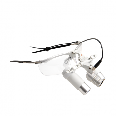 HEINE LoupeLight 2 con lupas binoculares HRP 4x