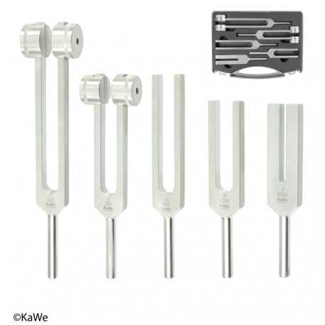 KaWe Aluminium tuning fork set in a case