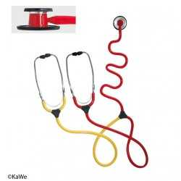 Estetoscópio de ensino da enfermeira KaWe DUO