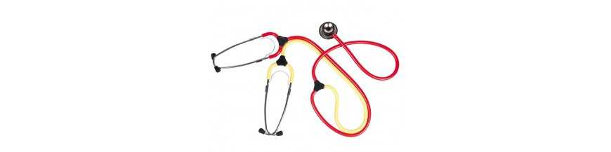 The training stethoscopes for nurses consist of two head pieces