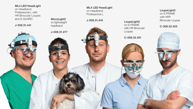 Order information for HEINE Loupes and Lights