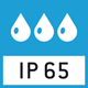 IP 65 protection in accordance with DIN EN 60529: Designed for temporary contact with liquids. Use a damp cloth for cleaning. Dustproof.