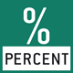 Percentage determination: Displays the deviation from the reference weight (100%) in % instead of grams.